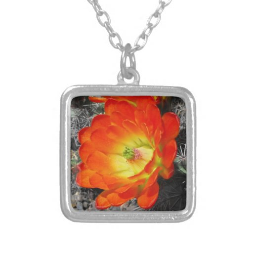 Red Wildflower Personalized Necklace