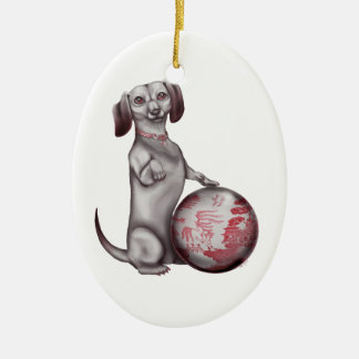 Red Willow Dachshund Christmas Ornament
