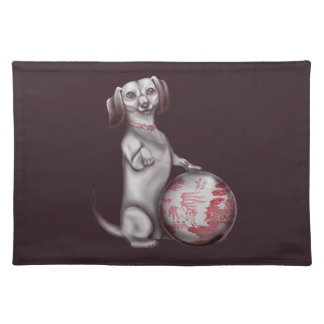 Red Willow Dachshund Place Mats