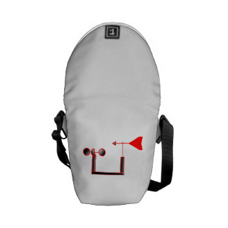 Red Wind Speed and Weather Vane Courier Bag