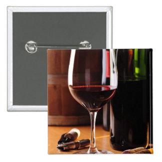 Red Wine 15 Cm Square Badge
