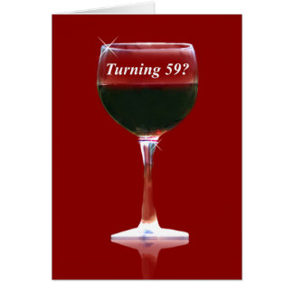 Red Wine 59th Happy Birthday Card