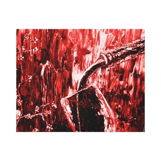 Red Wine Abstract Wall Art