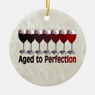 Red Wine Aged to Perfection Christmas Ornament