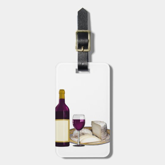 RED WINE AND CHEESE, CHEESE LOVERS GIFT LUGGAGE