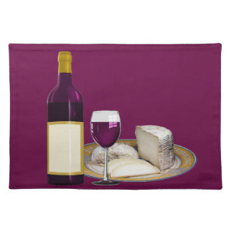 RED WINE  AND  CHEESE, CHEESE LOVERS GIFT PLACEMATS