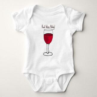 RED WINE BABY! print by jill Baby Bodysuit
