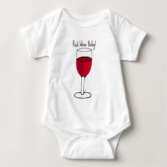 RED WINE BABY! print by jill Baby Bodysuit
