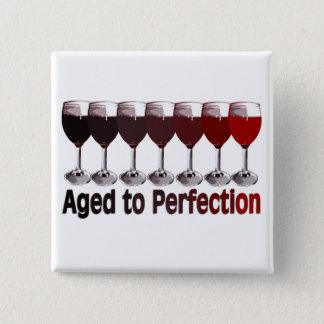 Red Wine Birthday 15 Cm Square Badge