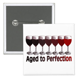 Red Wine Birthday 15 Cm Square Badge