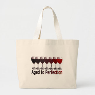 Red Wine Birthday Large Tote Bag