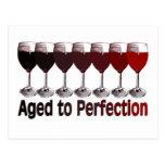 Red Wine Birthday Postcards