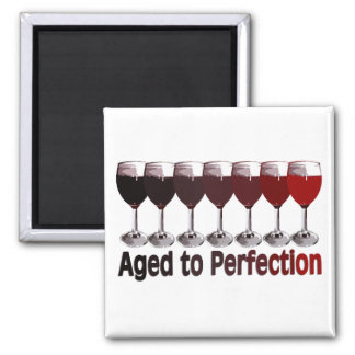 Red Wine Birthday Square Magnet