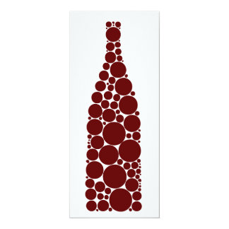 Red Wine Bottle 10 Cm X 24 Cm Invitation Card