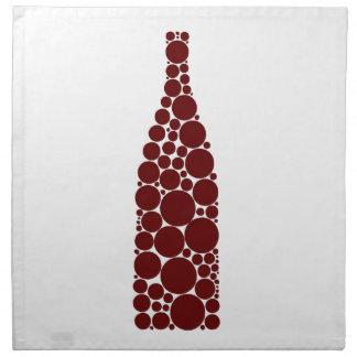 Red Wine Bottle Napkin