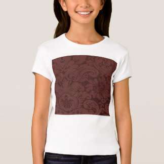 Red Wine Damask Weave Look T-Shirt