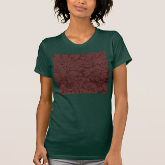 Red Wine Damask Weave Look Shirt