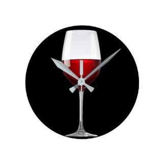 Red Wine Glass Black Drinks Winery Wallclock