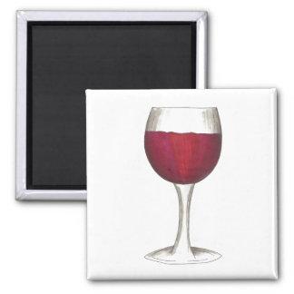 Red Wine Glass Bottle Winery Merlot Gift Magnet