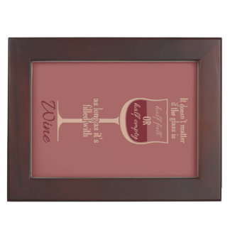Red Wine Glass custom keepsake box