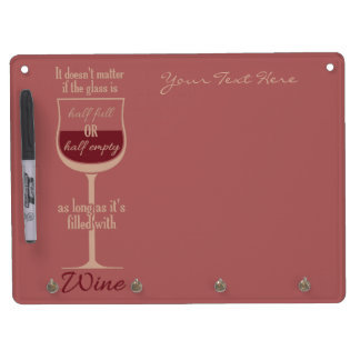 Red Wine Glass custom message board