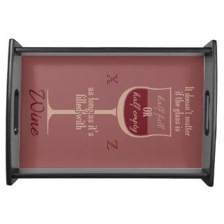 Red Wine Glass custom monogram tray