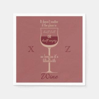 Red Wine Glass custom paper napkins