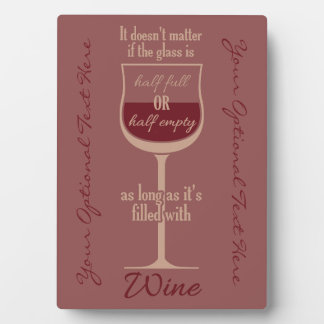 Red Wine Glass custom plaque
