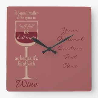 Red Wine Glass custom wall clock