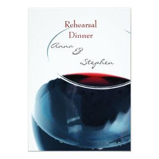 Red wine glass goblet closeup 13 cm x 18 cm invitation card