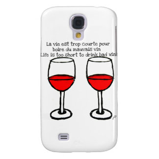 RED WINE GLASSES WITH FRENCH ENGLISH QUOTE SAMSUNG GALAXY S4 CASE