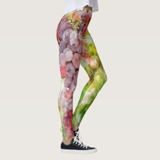 Red Wine Grapes Leggings
