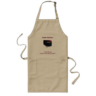 "red wine, ""I cook with wine, sometimes I even a... Long Apron"