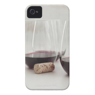 Red wine in stemless glasses iPhone 4 cases
