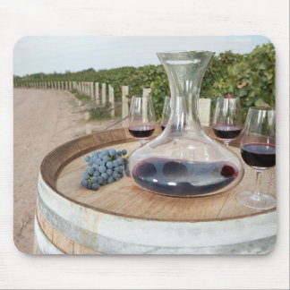Red Wine In Vineyard Mouse Mat