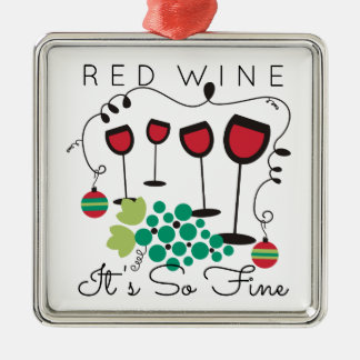 Red wine it's so fine gourmet Christmas ornament