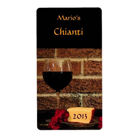 Red Wine Label