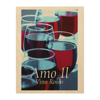 Red Wine Photograph Wood Wall Art