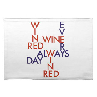 Red wine placemat