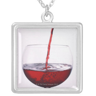 Red Wine Silver Plated Necklace