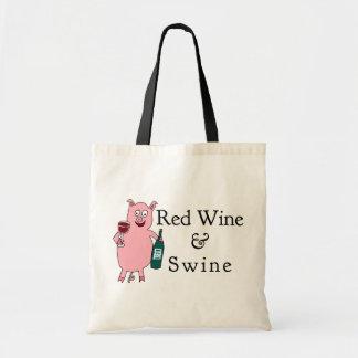 Red Wine & Swine Tote Bag