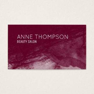 red-wine watercolored professional business card