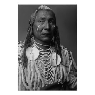 """Red Wing (Native American Man"""" Poster"""