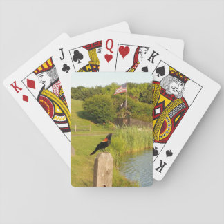 Red-Winged Bird Perched Trading Cards