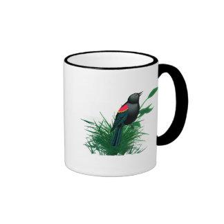 Red Winged Blackbird in Tall Grass Mug