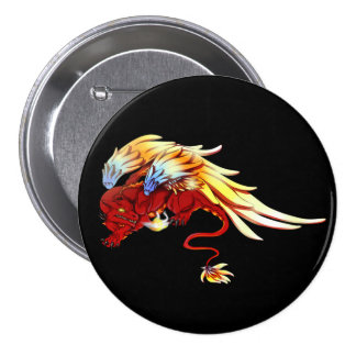 Red Winged Drake Button