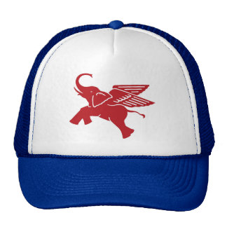 Red winged elephant cap