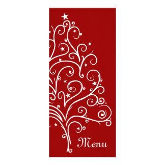 Red Winter Wedding Menu Rack Card
