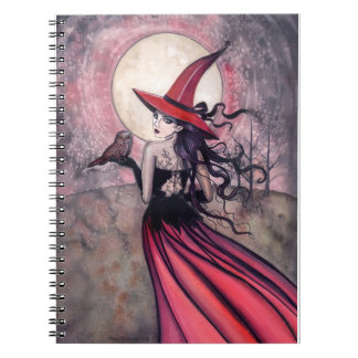 Red Witch and Owl Notebook