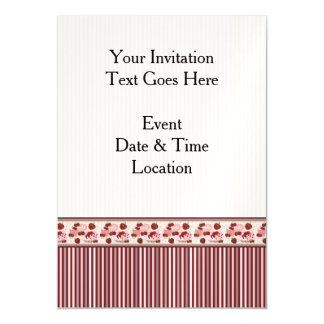 Red With Cream Stripes Pattern With Border Magnetic Card